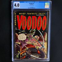 VOODOO #11 (Farrell 1953) 💥 CGC 4.0 💥 ONLY 22 IN CENSUS! PRE-CODE SKELETON CVR
