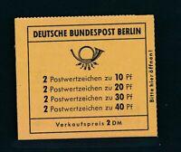 BERLIN 1972, MH 8 c **, gute Type!! Mi. 650,--!!!