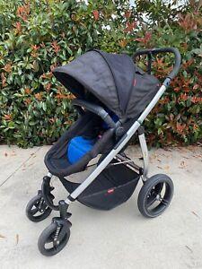 Phil & Teds Smart Lux Stroller - Black&Blue