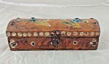 Vintage Old Wooden Pen/Pencil Box Beautiful Painted Handcrafted Kalamdan India