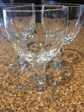 Tiffin Empire Essex Crystal Cordial Appertif Glasses (3)