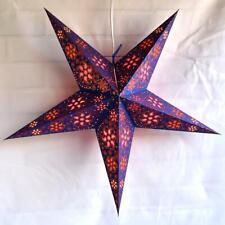 "24"" Blue Copper Glitter Winds Paper Star Lantern, Hanging Decoration"