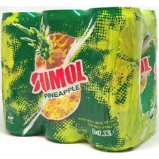 SUMOL Pineaple Can Soda 6 Pack / Pineapple Soft Drink Can 6 Pack.