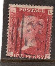 La Regina Vittoria usato uno PENNY ROSSO FRANCOBOLLO. SG 43 PIASTRA 91. LETTERE L F