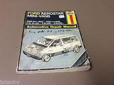 HAYNES FORD AEROSTAR MINI-VANS AUTOMOTIVE REPAIR MANUAL 1986 THRU 1992