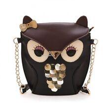 Fasion Girls Owl Print Satchel Messenger Cross Body Shoulder Bag Purse Handbags