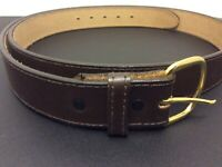 Men's Brown Leather Belt 50/125 Made in USA