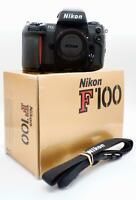 +Boxed+ Fantastic NIKON F100 Body only 35mm Film camera