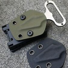 Multifunction K Sheath Kydex Camping Hunting Belt Clip Gear Scabbard Waist Clamp