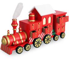 Calendrier de L'avent Motif Locomotive Remplissage individuel tiroirs bois 42cm