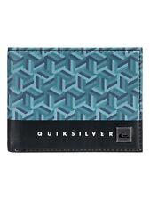Quiksilver Mens Wallet. freschezza in finta pelle blu Soldi Borsetta carta 8W 561 bpho