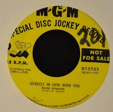 Mark Dinning MGM 12732 Secretly In Love With You and The Blackeyed Gypsy