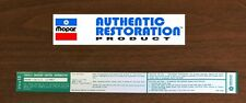 1973 Plymouth Dodge 340 4bbl Automatic Trans Emissions 3751313 Decal MoPar NEW