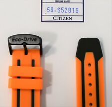 Original Citizen Scuba Fin BN0097-11E Orange Rubber Strap Watch Band with Buckle