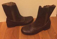 Steven Brown Genuine Leather Booties Zipped On Both Sides Sz 8