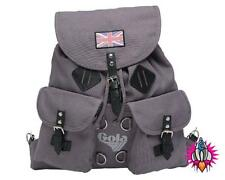 NEW GOLA MCKELLEN RETRO VINTAGE LARGE GREY CANVAS BACKPACK RUCKSACK SCHOOL BAG