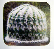 STEPS & LADDERS INTARSIA HAT to KNIT in BULKY WT YARN by GREEN MOUNTAIN SPINNERY