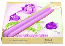 Tabla De Color Rosa Decoración Romántica Tulipanes Papel Servilletas 2 Velas Flores De Pascua/D