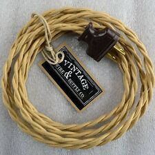 Sahara Beige - Rewire Lamp Cord Steampunk Cloth Twisted Wire - Antique Fan Lamp