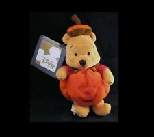 DISNEY Winnie Pooh Pumpkin Face Plush Bean Bag Doll NEW UK Europe Adorable