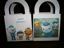 OCTONAUTS Birthday Party pack of 12 Favor Boxes Free Personalization