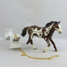 Enameled Pewter Bejeweled Trinket Box with Tiny Necklace - Appaloosa Horse