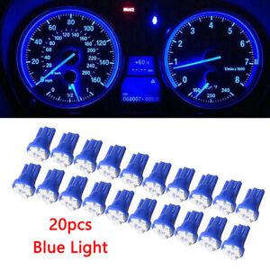 20x T10 Wedge 4 SMD 1210 LED Brake Light bulbs W5W 2825 158 192 168 194 Blue