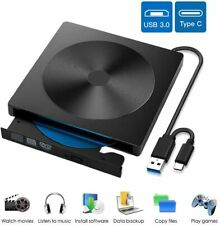 EasyULT Unidad Externa de CD DVD, Portátil Reproductor de Grabadora CD/DVD-RW
