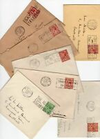 Great Britain 7 x KGV covers all have TELEPHONE slogan cancels