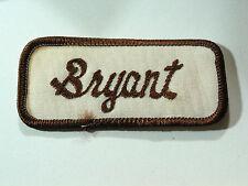 Bryant Name Patch Badge Mechanics Garage Gas Station Vintage Automobile