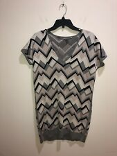 MAX MARA size M Short Sleeve Striped Silk/Cashmere Sweater Dress