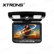 Black Car Roof Monitor Flip Down DVD Player Overhead Video AUX/AV/FM/IR/Speaker