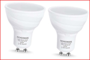 TECHGOMADE GU10 Dusk to Dawn LED Light Bulbs, Light Sensor Bulbs, 5W, 40W Halog