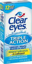 Clear Eyes, (Triple Action Lubricant) Eye Drops, 0.5 Fl Oz (15 mL)