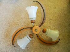 Vintage/Retro de Mediados de siglo Teca Techo Montaje Brazo 3 luz estilo era Eames De Fab
