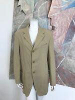 Giorgio Armani Womens Khaki Three Button Blazer Jacket ITALY SZ 40