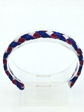 Blue Red White Glitter Woven Headband, Patriotic Headband, 4th Of July Headband