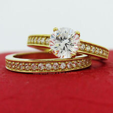 Cubic Zirconia Yellow Not Enhanced Fine Rings