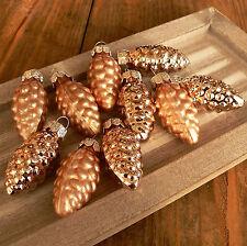 10 Tannenzapfen aus Glas kupfer Christbaumschmuck Glaszapfen Baumschmuck Set NEU