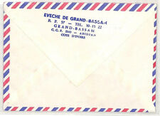 CA312 1985 Ivory Coast EVECHE DE GRAND BASSAM Airmail Cover MISSIONARY VEHICLES