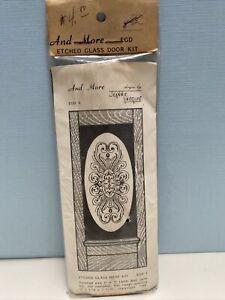 Vintage NOS Jeannie Indquist Etched Glass Door Kit Wood Dollhouse Miniature 1980