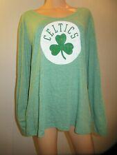 Boston Celtics NBA Basketball Womens Long Sleeve Shirt Top 2XL