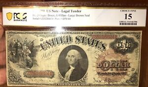 1880 $1 Legal Tender PCGS 15 FR#29 Large Size Note Currency