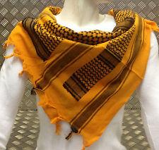 100% Algodón Shemagh / Árabe Bufanda/ Pashmina/ Tiras/ sarong. naranja y negro