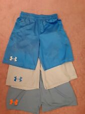 Lot Of 3 Pair Of Boys Under Armour Shorts Sz Youth Lrg!