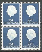 Netherlands 1953 Sc# 348 Queen Juliana block 4 MNH