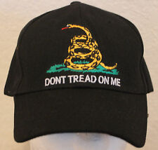 Gadsden Confederate Ball Hat Cap Don't Tread On Me Mens Black Liberty Or Death