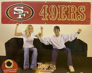 SAN FRANCISCO YOU'RE IN 49ERS COUNTRY 8' X 2' BANNER 8 FOOT HEAVYWEIGHT SIGN NFL