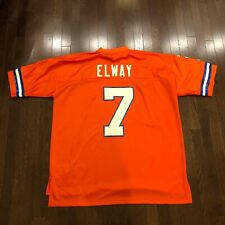 John Elway #7 Denver Broncos Reebok Throwbacks Jersey Mens Size 2XL