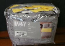 VCNY 3 Piece Scottsdale King Size Bed Duvet Set- New